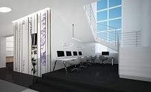 Wnętrze biblioteki - projekt