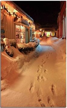 Zima w mieście Zdjęcie – autor: Waterfall Guy, platforma: Flickr