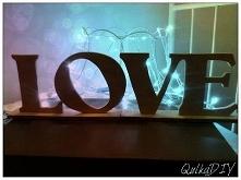 Mój pierwszy konkurs <3 na FB do wygrania napis LOVE z drewnianych literek zapraszam :)