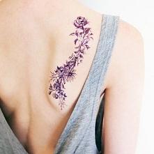 tatuaże damskie kwiaty na ł...