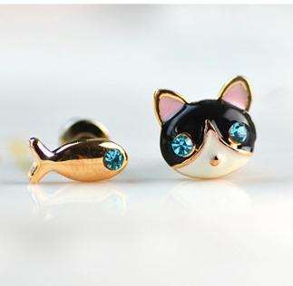 Kotek i rybka- która z Was chciałaby takie kolczyki? :)