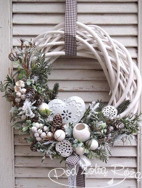 Ozdobny Bożonarodzeniowy Wianek Dekoracyjne Wianki Na Drzwi