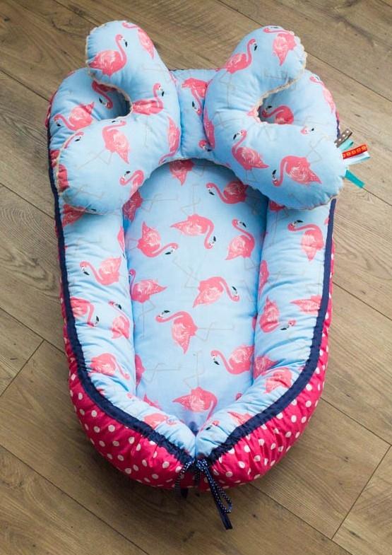 Kokon dla niemowlaka + poduszka motylek. Zapraszam na fb MisioZdzisio.