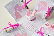 Expolding box - pudełko z życzeniami zamiast kartki na chrzciny, po kliknięciu przejdziesz na stronę z szablonem do wycięcia pudełka