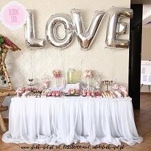 Różowy Słodki Stół Candy bar wesele