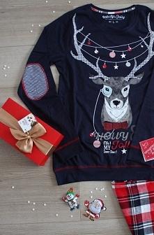 ❅Masz już pomysł na prezent?❅ Piżama 34554-59X Granatowo-czerwona w Olive.pl