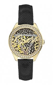 Damski stylowy zegarek Guess W0456L4 wysadzany cyrkoniami, wzór panterka Możliwość zakupu, link w komentarzu :)