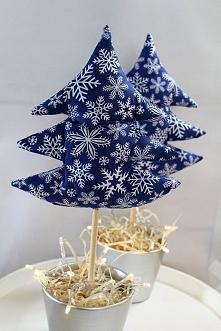 Niebieska choinka +doniczka...