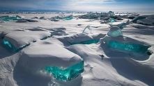 Jezioro Bajkał zimą, Rosja