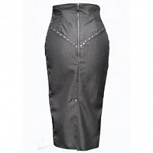 Spódnica dżinsowa wiązana w...