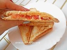 Tosty z papryką i pomidorem aroundtheflavors.blogspot.com