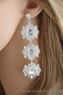 Kolczyki długie wiszące z kryształami
