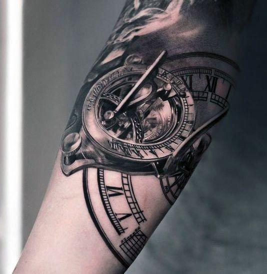 Tatuaż 3d Zegar Edytuj Na Tatuaże Zszywkapl