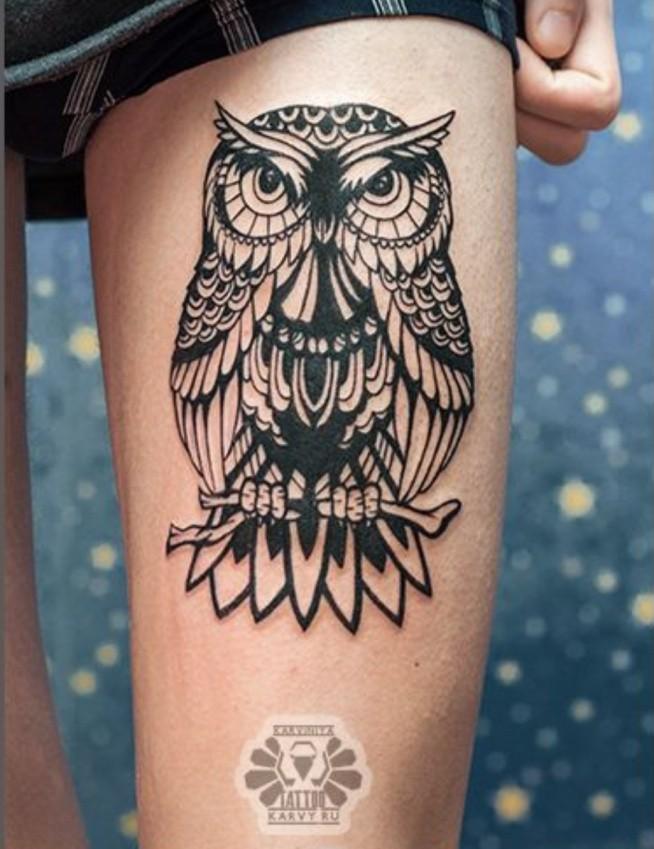 Tatuaż Sowa Na Tattoo Zszywkapl