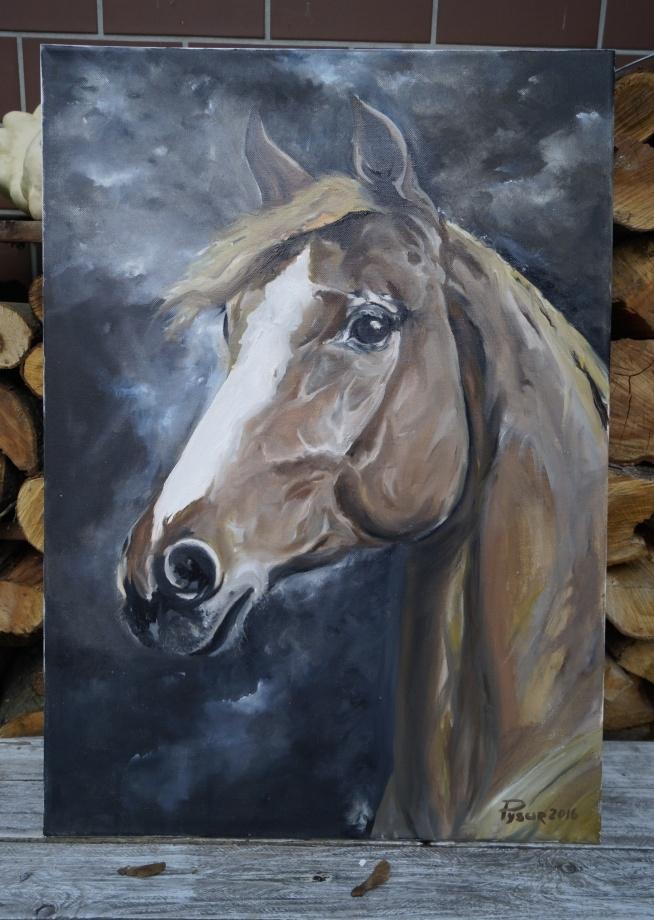 Obraz dla miłośników koni :) Olej na plotnie, pędzel. Rozmiar 50 x 70 cm. Praca mojego męża. #konie #stadnina #obraz #dlamiłośnikówkoni #pomyslnaprezent #krakow #Pferd #Pferde #Stallungen #Bild