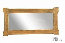 stylowe lustro woskowane