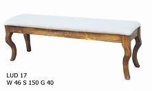 stylowa ławka tapicerowana