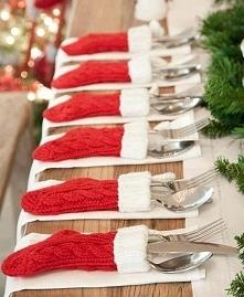 Świetny pomysł na udekorowanie stołu w Wigilię :))