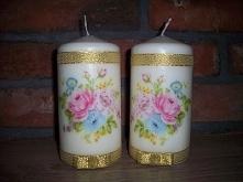 Jak samodzielnie ozdobić świeczki? Pomysł na własnoręcznie zrobiony prezent - w blogu dobragospodynidomesolymczyni.blogspot.com
