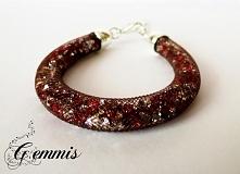 Tym razem bransoletka z fioletowej siatki z czerwono-srebrnymi kryształki i regulacją. Pięknie błyszcząca, idealna do wieczorowych kreacji Więcej produktów GEMMIS znajdziecie na...
