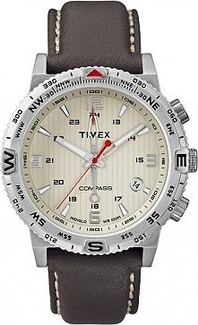 Męski zegarek wodoodporny Timex T2P287 na pasku z funkcją kompasu  Możliwość ...