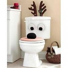 Świąteczny renifer do łazienki na deskę sedesową dla osoby z poczuciem humoru :D