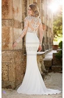 Martina Liana Lace illusion Sheath Wedding Dress Style 690