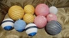 bombki ze sznurka i koralików