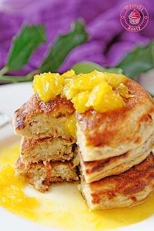 Przepyszne rajskie placuszki z ananasem, bananami i pomarańczami - Wypieki Beaty