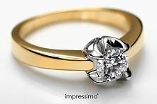 Uwaga! Znaleziono pierścionek! 14K złoto. Zdobiony brylantem klasy H/Si. Idea...