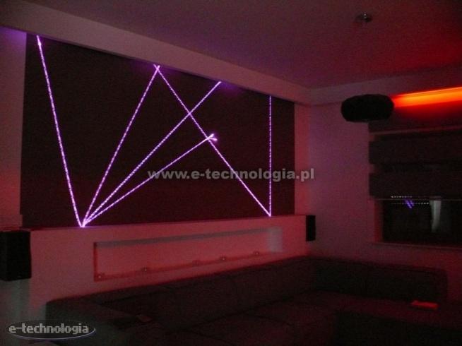 Oświetlenie ściany W Salonie Oświetlenie ściany