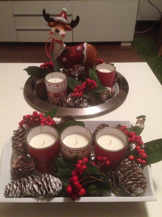moje dekoracje świąteczne na stół