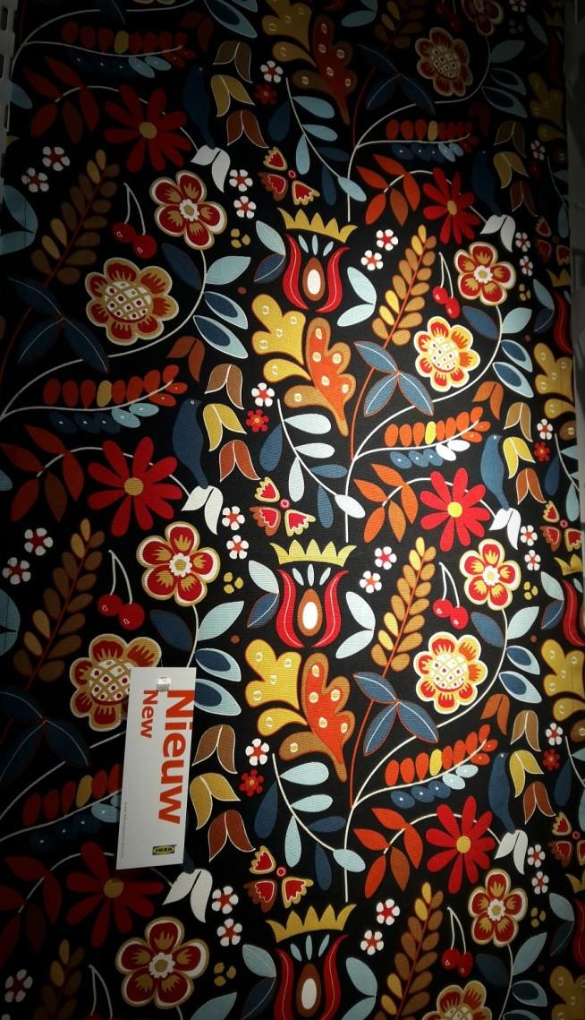Matreiał Tkanina Ikea Etno Kwiaty Na My Style Zszywkapl