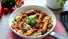 Bulgur z indykiem i warzywami