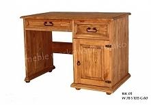 sosnowe biurko wykończone w...