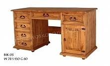 masywne biurko sosnowe do b...