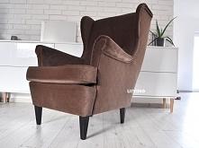 Fotel uszak w tkaninie piko...