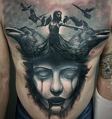 kobieta z ptakami