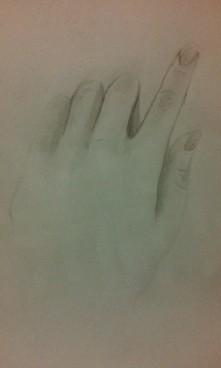 Moja dłoń. Podoba mi się.