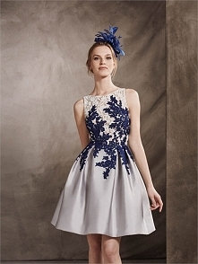 A-line Scoop Neckline Lace Appliques Short Prom Dress PD3370
