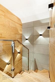 Piękne schody w nowoczesnym...