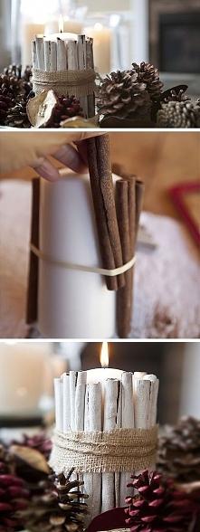 świąteczny świecznik - diy
