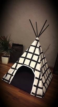 nowoczesne legowisko dla pupila, namiot tipi dla pieska lub kota - frajda dla zwierzaka - super gadżet dla właściciela :D TIPI PLANET