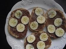 banany z nutellą