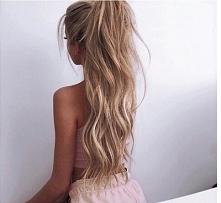 blond włosy/niesforny ład