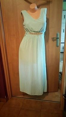 śliczna nowa sukienka maxi <3   z ozdobnym paseczkiem   rozmiar uniwersaln...