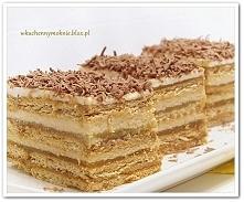 Ciasto z masą serowo-krówkową i jabłkami na herbatnikach(bez pieczenia) -prze...
