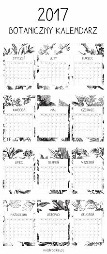 Botaniczny kalendarz z plan...