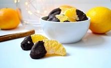 Jadalne prezenty bez cukru. Mandarynki w gorzkiej czekoladzie z solą. Pycha! ...