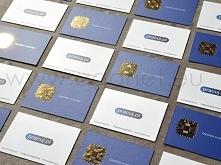 Wizytówki kaszerowane ze złoceniem to świetny sposób aby wyróżnić swoją markę.